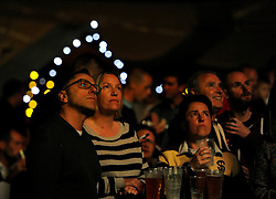 Fans watch the England v Australia, Rugby World Cup game at the Rugby World Cup village at Ashton Gate.