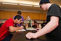LHS Robotic Arm physics class.  Karen Bobotas for the Laconia Daily Sun