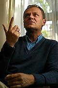 Donald Tusk polish prime minister in his party parliament club photo Piotr Gesicki