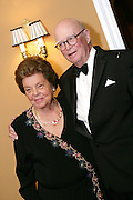 "Mrs. J Maxwell ""Betty"" Moran and Mr. George A ""Frolic"" Weymouth at the Wildflower Ball at Radnor Hunt Club Friday 17 May 2008. (Photograph by Jim Graham)"