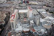 Aerial view of Caesars Palace Hotel on the Strip, Las Vegas, Nevada, USA