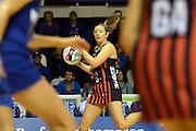 Mainland Tactix Anna Thompson in action during the 2016 ANZ Championship, Northern Mystics vs Mainland Tactix, The Trusts Arena, Auckland, New Zealand. Saturday 02 July 2016. Photo: Raghavan Venugopal / www.photosport.nz