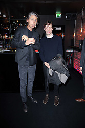 Left to right, GEORGE LAMB and JOHNNY BORRELL at the Mulberry Event at Morton's Berkeley Square, London on 3rd November 2010.