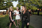 OLYMPIA SCARY, SOPHIA HESKETH AND TARA PALMER-TOMPKINSON, The Summer Party in association with Swarovski. Co-Chairs: Zaha Hadid and Dennis Hopper, Serpentine Gallery. London. 11 July 2007. <br /> -DO NOT ARCHIVE-© Copyright Photograph by Dafydd Jones. 248 Clapham Rd. London SW9 0PZ. Tel 0207 820 0771. www.dafjones.com.