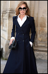 Tara Palmer-Tomkinson arrives at Westminster Abbey for the service to celebrate the life and work of Sir David Frost, Westminster Abbey, London, United Kingdom. Thursday, 13th March 2014. Picture by Andrew Parsons / i-Images