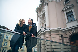 Portrait of Primoz in Mojca, therapists, on February 3, 2020, in Ljubljana, Slovenia. Photo by Matic Ritonja / Sportida