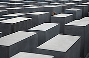 The memorial to the murdered jews of Europe in Berlin Germany. Designed by architect Peter Eisenman and engineer Buro Happold.