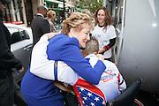 Senator Elizabeth Dole greets the riders in Washington DC. Both she and her husband senator, Bob Dole, support many veteran causes.