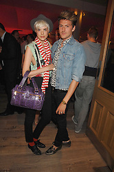 Designer HENRY HOLLAND and model AGYNESS DEYN at a party to celebrate Westfield London's sponsorship of the British Fashion Council's Fashion Forward Awards held at the Haymarket Hotel, 1 Suffolk Place, London on 17th July 2007.<br /><br />NON EXCLUSIVE - WORLD RIGHTS