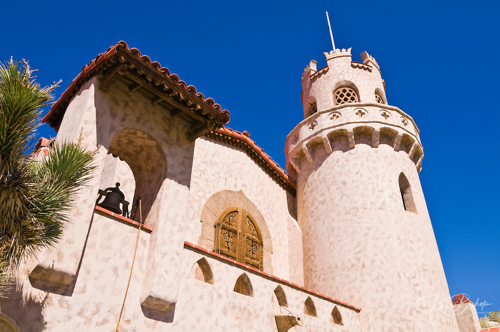 Bell and tower at Scottys Castle, Death Valley National Park. California