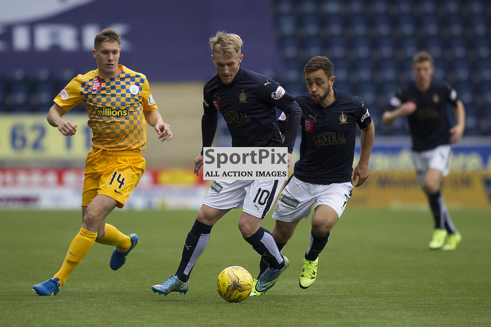 Craig Sibbald of Falkirk during the Ladbrokes Scottish Championship match between Falkirk FC and Greenock Morton FC at Falkirk Stadium on October 17, 2015 in Falkirk, Scotland. Photo by Jonathan Faulds/SportPix