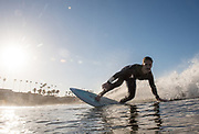 Will Taylor surfing in Oceanside, CA.