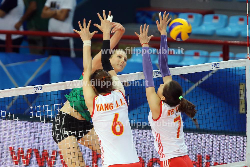 Azerbaijan Polina Rahimova spikes