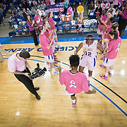 02/05/12 Newark DE: Delaware Junior Forward #12 Danielle Parker is introduced to the crowed prior to the start of a Colonial Athletic Association conference Basketball Game against the VCU Lady Rams, Feb. 5, 2012 at the Bob carpenter center in Newark Delaware.<br /> <br /> Special to The News Journal/SAQUAN STIMPSON
