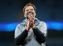 Liverpool manager Jurgen Klopp after the UEFA Champions League, Quarter Final at the Etihad Stadium, Manchester.