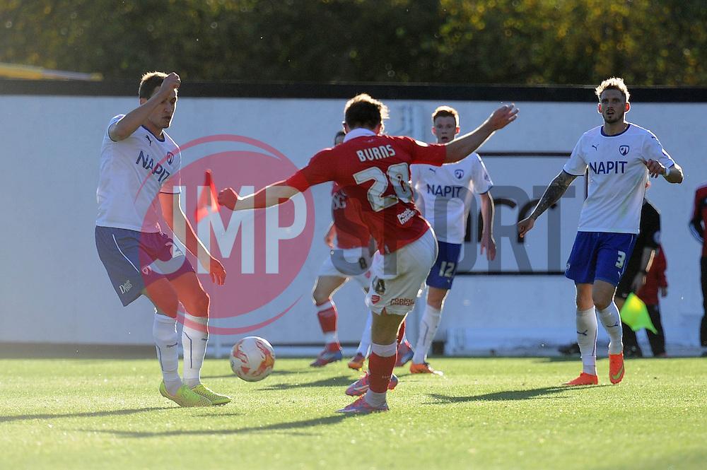 Bristol City's Wes Burns scores a goal. - Photo mandatory by-line: Dougie Allward/JMP - Mobile: 07966 386802 - 11/10/2014 - SPORT - Football - Bristol - Ashton Gate - Bristol City v Chesterfield - Sky Bet League One