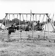 Swingboats, at Glastonbury, 1989.