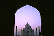 Taj Mahal through silhouette