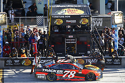 November 19, 2017 - Homestead, Florida, United States of America - November 19, 2017 - Homestead, Florida, USA: Martin Truex Jr (78) comes down pit road for service during the Ford EcoBoost 400 at Homestead-Miami Speedway in Homestead, Florida. (Credit Image: © Justin R. Noe Asp Inc/ASP via ZUMA Wire)