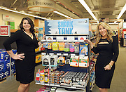 Shark Tank's Lori Greiner, right, joins Staples' Alison Corcoran to announce that Staples will now sell Shark Tank products created by entrepreneurs featured on the show, Tuesday, April 7, 2015, in New York.  (Photo by Diane Bondareff/Invision for Staples/AP Images)