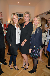 Left to right, CHRISSIE REEVES, TABITHA WEBB and ROSIE NIXON at a party to celebrate the opening of the first Tabitha Webb Retail Store at 45 Elizabeth Street, London on 23rd September 2014.