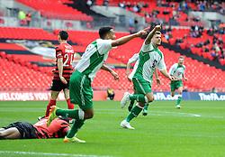 North Ferriby's Ryan Kendall celebrates his goal - Photo mandatory by-line: Paul Knight/JMP - Mobile: 07966 386802 - 29/03/2015 - SPORT - Football - London - Wembley Stadium - North Ferriby United v Wrexham - FA Trophy