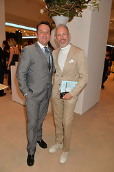 Left to right, ROB VAN HELDEN and PATRICK COX at the Masterpiece Marie Curie Party supported by Jeager-LeCoultre held at the South Grounds of The Royal Hospital Chelsea, London on 30th June 2014.