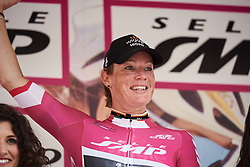 Kirsten Wild (NED) retains the points jersey at Giro Rosa 2018 - Stage 5, a 122.6 km road race starting and finishing in Omegna, Italy on July 10, 2018. Photo by Sean Robinson/velofocus.com