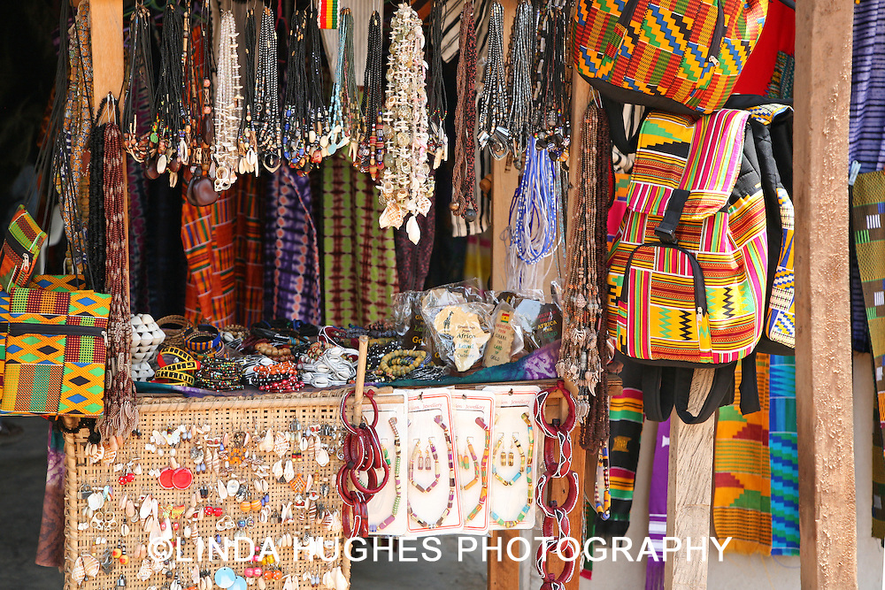 Fashion Display at an Outdoor Market in Accra Ghana