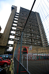 UK ENGLAND LONDON 8JAN09 - Social housing project Trellick Tower in west London, location of Mygeneration office directed by Shaun Bailey...jre/Photo by Jiri Rezac