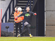 Luton Town goalkeeper Marek Stech warms up before the game during the EFL Sky Bet League 2 match between Luton Town and Barnet at Kenilworth Road, Luton, England on 24 March 2018. Picture by Ian  Muir.