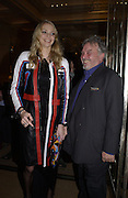 Jodie Kidd and David Bailey. David Bailey dinner hosted by Lucy Yeomans at Gordon Ramsay at Claridge's. 12 November 2001. © Copyright Photograph by Dafydd Jones 66 Stockwell Park Rd. London SW9 0DA Tel 020 7733 0108 www.dafjones.com