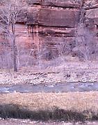 Virgin River Canyon, Virgin River, Sandstone Canyon, Canyon, Sandstone, Winter, Ice, Snow, Zion, Zion National Park, Utah