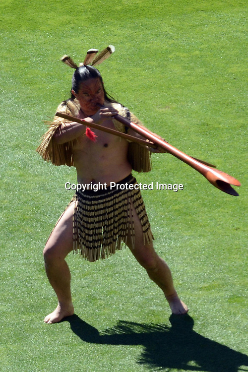 Maori welcome given before the start of play during the ICC Cricket World Cup Quaterfinal match between New Zealand and West Indies at Westpac Stadium in Wellington, New Zealand. Saturday 21  March 2015. Copyright Photo: Raghavan Venugopal / www.photosport.co.nz