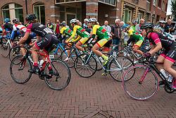 The Bunch with National Team Lithuania starting at the Holland Ladies Tour, Zeddam, Gelderland, The Netherlands, 1 September 2015.<br /> Photo: Pim Nijland / PelotonPhotos.com