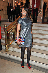 JACKIE ST.CLAIR arrives at the press night of the new Andrew Lloyd Webber  musical 'The Wizard of Oz' at The London Palladium, Argylle Street, London on 1st March 2011 followed by an aftershow party at One Marylebone, London NW1