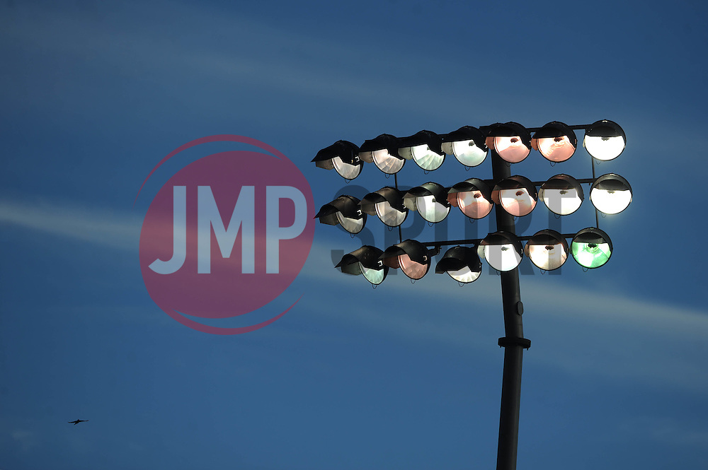 Floodlights at The Memorial Stadium  - Mandatory byline: Dougie Allward/JMP - 07966 386802 - 24/10/2015 - FOOTBALL - Memorial Stadium - Bristol, England - Bristol Rovers v Newport County AFC - Sky Bet League Two