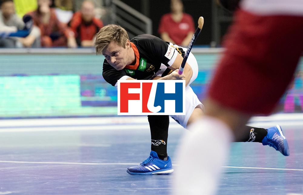 BERLIN - Indoor Hockey World Cup<br /> Men: Poland - Germany<br /> foto: Mats Grambusch. <br /> WORLDSPORTPICS COPYRIGHT FRANK UIJLENBROEK