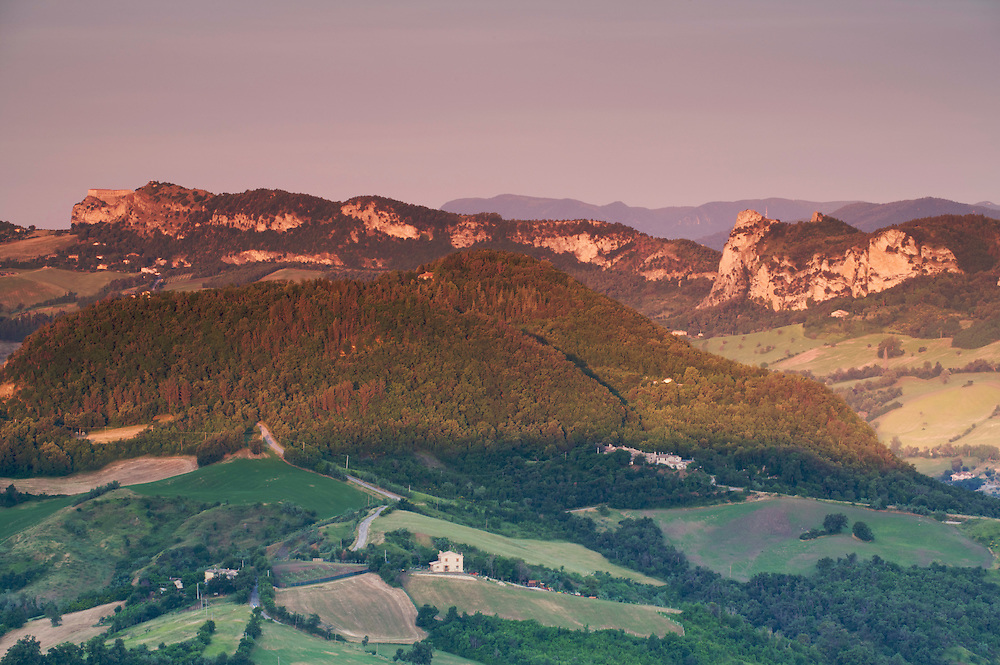 View to the Foothills of the Apennines (Italy), San Marino.