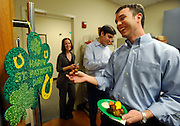 Insight Sourcing Group is one of Atlanta's top businesses according to the firm's own employees who attend a St. Patrick's Day happy hour event at the firm's headquarters Friday, Feb. 27, 2015, in Norcross, Ga. David Tulis / AJC Special