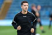 Forest Green Rovers Lloyd James(4) warming up during the 2nd round of the Carabao EFL Cup match between Wycombe Wanderers and Forest Green Rovers at Adams Park, High Wycombe, England on 28 August 2018.