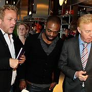 NLD/Amsterdam/20100201 - Presentatie boek Koken voor Kika, Gordon Heuckeroth, Ramon Beuk en Andre van Duin
