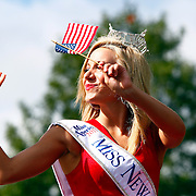 Smithville, NJ / 2013 - Miss New Jersey Cara McCollum waves to the crowd while participating in Smithville's July 4th parade.  Photo by Mike Roy / The Star-Ledger