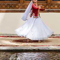 Lead dancer in a solo performance at the Sheki Khan Palace