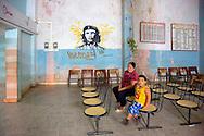 Bus station in Cueto, Holguin, Cuba.