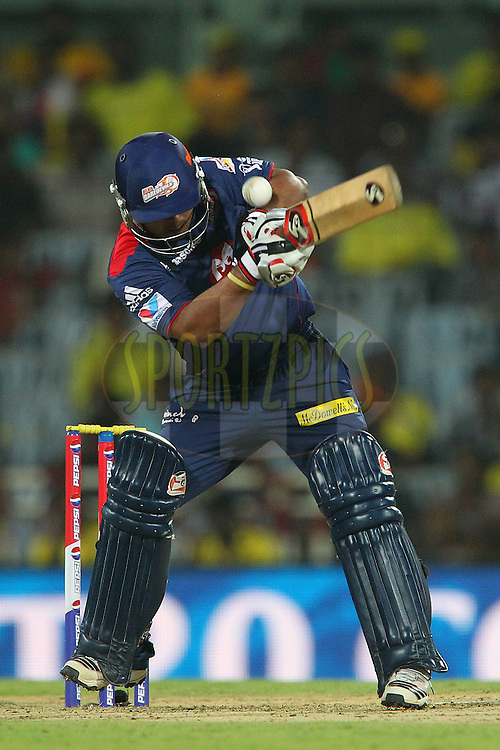 Kedar Jadhav during match 64 of the Pepsi Indian Premier League between The Chennai Superkings and the Delhi Daredevils held at the MA Chidambaram Stadium in Chennai on the 14th May 2013..Photo by Ron Gaunt-IPL-SPORTZPICS   .. .Use of this image is subject to the terms and conditions as outlined by the BCCI. These terms can be found by following this link:..http://www.sportzpics.co.za/image/I0000SoRagM2cIEc