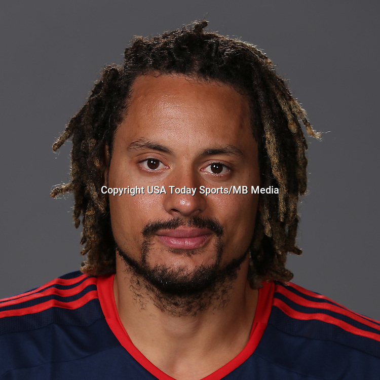 Jan 23, 2015; New England Revolution player Jermaine Jones poses for a photo.