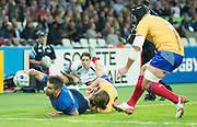 London, Great Britain,     France vs Romania. 2015 Rugby World Cup, Pool D, venue. The Stadium Queen Elizabeth Olympic Park. Stratford. East London. England,, Wednesday  23/09/2015. <br /> [Mandatory Credit; Peter Spurrier/Intersport-images]
