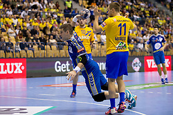 Julen Aguinagalde Akizu of PGE Vive Kielce during handball match between RK Celje Pivovarna Lasko and PGE Vive Kielce in Group Phase A+B of VELUX EHF Champions League, on September 30, 2017 in Arena Zlatorog, Celje, Slovenia. Photo by Urban Urbanc / Sportida