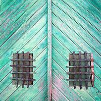 Old wooden door, Brozas, province of Caceres, Spain